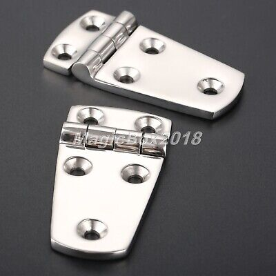 £9.88 • Buy 1Pair Boat Yacht Stainless Polished Door Cabinet Drawer Hinges Durable Hardware