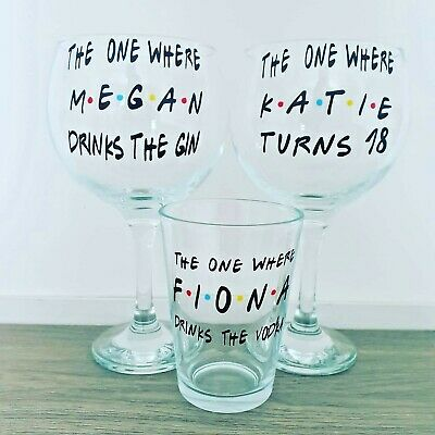 £8.99 • Buy Personalised Friends TV Show Inspired Gin / Vodka Glass Gift