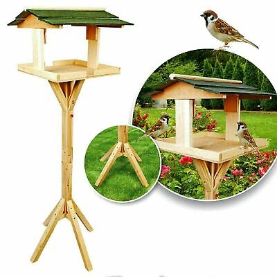 £23.99 • Buy Bird Table Traditional Free Standing Wooden Feeder Feeding Seed New