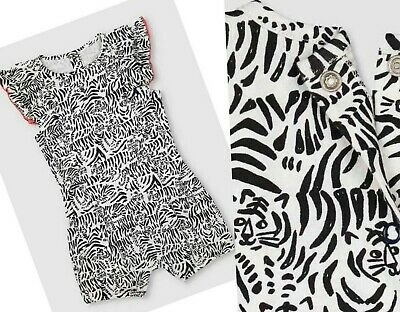 £7.95 • Buy MOTHERCARE Girls Baby Playsuit MY K Summer Shorts Outfit Animal Tiger Print NEW