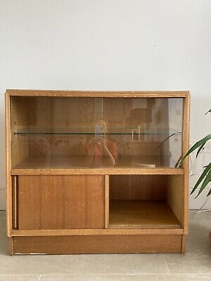£150 • Buy Pair Of G Plan E Gomme Oak Small Bookcase Glass Cabinet Mid Century