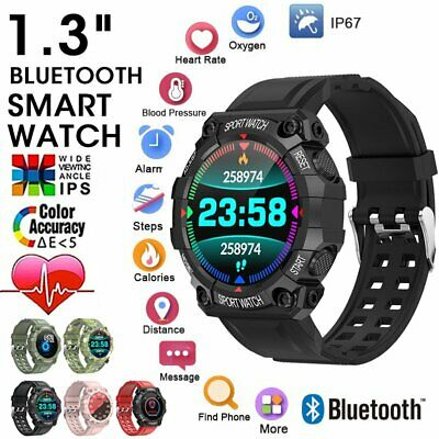 AU21.47 • Buy Smart Watch  Bluetooth Sports Bracelet Heart Rate For IPhone IOS Android IP67
