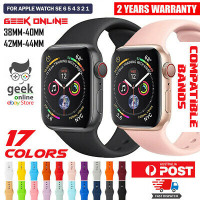 AU5.35 • Buy For Apple Watch IWatch Sports Band Series 6 5 4 3 2 1 SE 44mm 42 40mm 38mm Strap