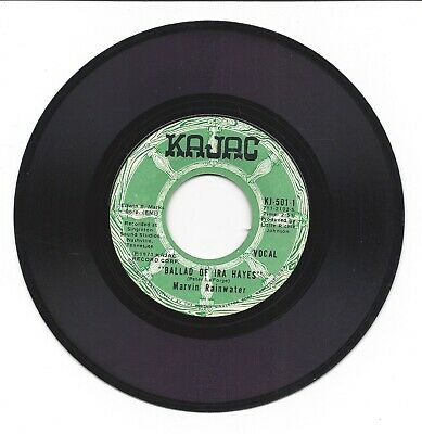$ CDN36.18 • Buy Scarce! Kajac Records Ballad Of Ira Hayes  7  45 RPM Paly Tested, Excellent +