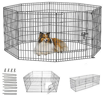 £32.95 • Buy Dog Pen Puppy Pet Playpen Run Outdoor Foldable Enclosure Rabbit Fence Crate Cage