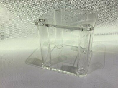 Clear Square Wedding Cake Separator Topper Stand 4 Tube Fillable • 9.99£