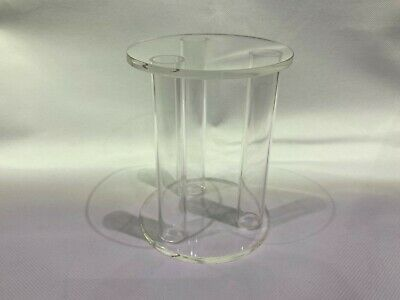 Crystal Clear Round Wedding Cake Separator Topper Stand 4  Diameter 5  Height • 9.99£
