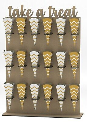 £24.95 • Buy Y352 XXL SWEET CONE STAND Donut Doughnut Wall Stand Sweets Candy Carts Wedding