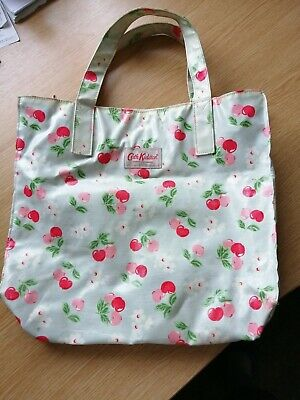 £9 • Buy Cath Kidston Shopping Bag Cherries On Light Blue Used Gd Cond Purse Pocket