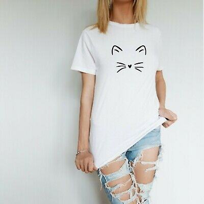 £10.61 • Buy Cat Face Unisex T Shirt