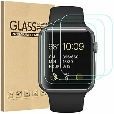 AU12.82 • Buy 3x GLASS Screen Protector For Apple Watch Series SE 6 5 4 3 38/42/40/44mm IWatch