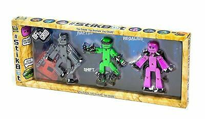 £10.99 • Buy Stikbot Off The Grid 3 Pack - Raptus, Shift & Regalius #S1301 Action Figure Toy