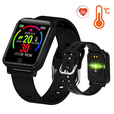 AU39.99 • Buy Smart Watch Body Temperature Test Blood Pressure Monitor For Android IOS Phones