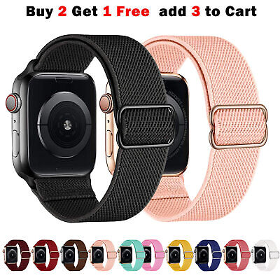 AU9.99 • Buy Adjustable Nylon IWatch Strap Band For Apple Watch Series 6 5 4 3 SE 38 40 42 44