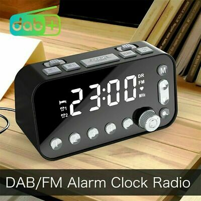 AU34.99 • Buy Digital DAB+FM Radio Alarm Clock LED Bedside Sleep Dual Timer Large Size Display