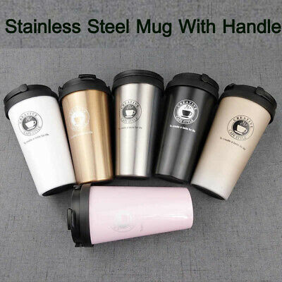£5.99 • Buy Insulated Travel Coffee Mug Cup Thermal Stainless Steel Flask Vacuum Thermos