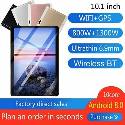 AU130.80 • Buy 10.1 Inch Android 8.0 10 Deca Core Dual Tablet PC WIFI 4G+64G Tablet Pad