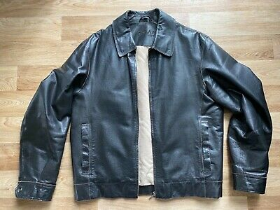 Men's Remus Brown Leather Indiana Jones Style Jacket Size L Chest 44in • 40£
