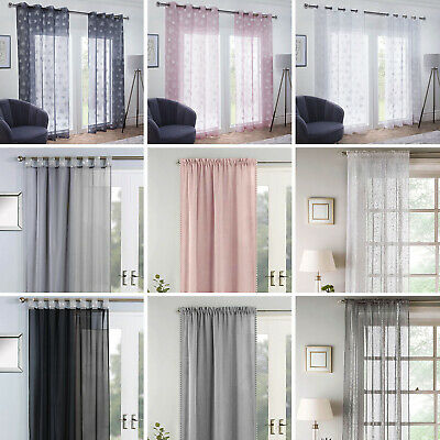 £9.95 • Buy New Luxury Voile Net Curtain Pencil Pleat Eyelet Ring Top Single Panel Curtains