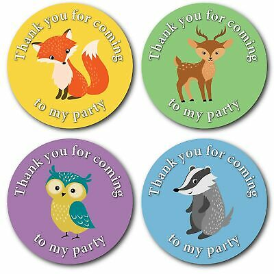 $18.08 • Buy Olivia Samuel 45mm Woodland Animals Thank You For Coming To My Party Stickers...