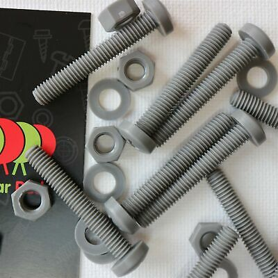 20 X Grey Pan Head Screws Polypropylene (PP) Plastic Nuts And Bolts, Washers,... • 28.99£