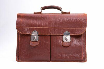 £112.66 • Buy Vintage Men's Brown Leather Briefcase With Cheney Locks