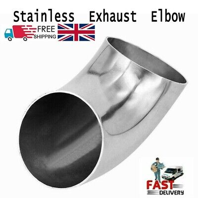 £6.99 • Buy Exhaust 45mm Stainless Steel Elbow 90Degree Weldable Pipe Tube Bend Fitting UK