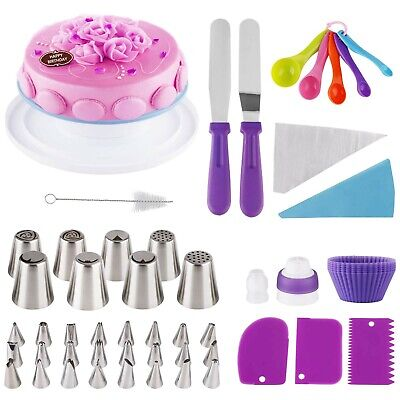 £34.99 • Buy Cake Decoration Kit 64 Pcs Professional Baking Equipment With Turntable Stand...