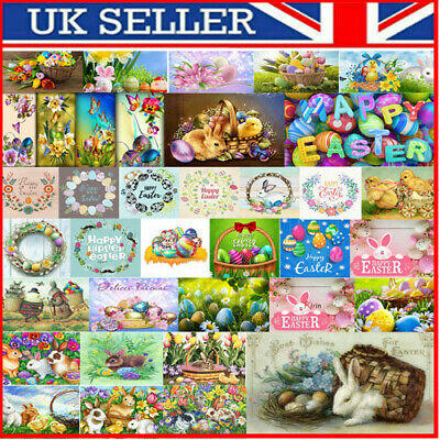 UK Easter 5D DIY Full Diamond Painting Cross Stitch Embroidery Kit Home Decor • 5.06£