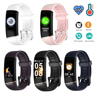 AU41.20 • Buy Bluetooth Smart Watch Fitness Tracker Thermometer Heart Rate Call SMS Reminder