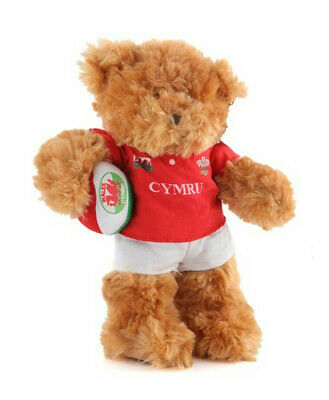 £10.99 • Buy Wales Souvenir  Teddy Bear In Rugby Kit With Ball 84106