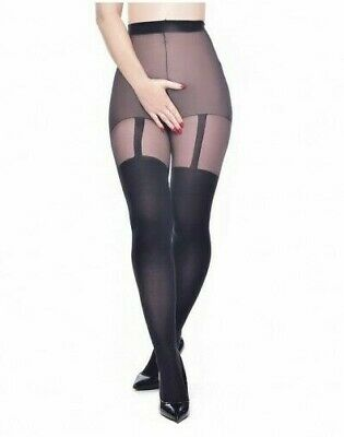 £8.99 • Buy Sexy Crotchess Suspender Tights Black Uk 8 - 24 Available