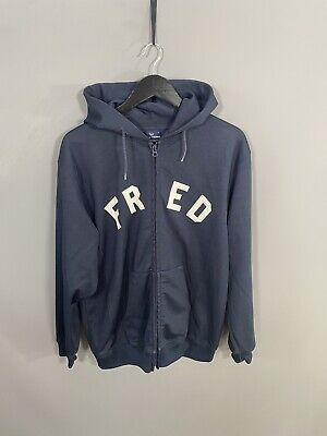 £59.99 • Buy FRED PERRY FULL ZIP Hoodie - Size Large - Navy - Great Condition - Mens