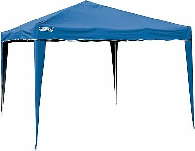 Draper Blue 3m X 3m Concertina Gazebo Garden Party Shelter Canopy Roof • 106.98£
