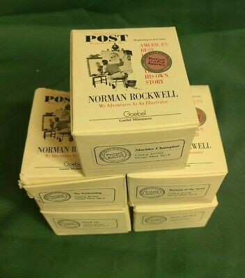 $ CDN125.53 • Buy VINTAGE NORMAN ROCKWELL  Pewter Miniature Bookend Lot Of 5 Various