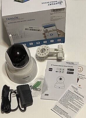 £15.58 • Buy Tenvis Wireless 1080p Camera Two Way Audio Night Vision Security Camera White