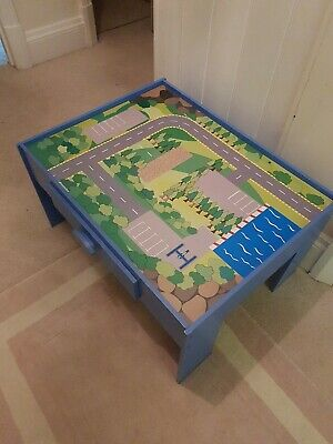 £10 • Buy GLTC ? Play Table With Drawer Great Condition Blue Car Map Great Lego /car Table