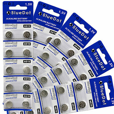 AU10.34 • Buy 50 Pack LR1130 AG10 LR54 D389 389 390 189 L1131 Alkaline Button Cell Battery USA