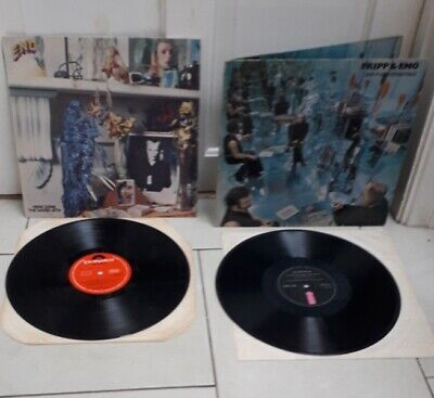 BRIAN ENO 2 X LP VINYL  HERE COME THE WARM JETS NO PUSSYFOOTING  ORIG JOB LOT  • 13.99£