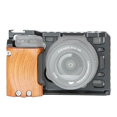 $ CDN143.66 • Buy [Update Version]NICEYRIG A6400 A6500 Cage With Wooden Handgrip For Sony A6400...