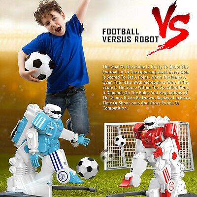 AU79.85 • Buy RC Football Robot Gifts For Kids Remote Control Robot Toys Fun Sports Ball Game