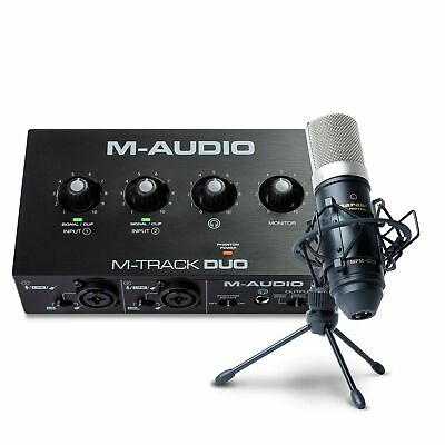 $218.12 • Buy M-Audio Recording, Streaming And Podcasting Bundle – M-Track Duo USB Audio In...