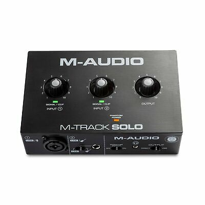 $96.63 • Buy M-Audio M-Track Solo – USB Audio Interface For Recording, Streaming And Podca...