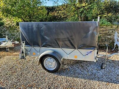 Ifor Williams P6e Utility Trailer With Mesh Sides, Drop Legs And Cover For Hire • 30£