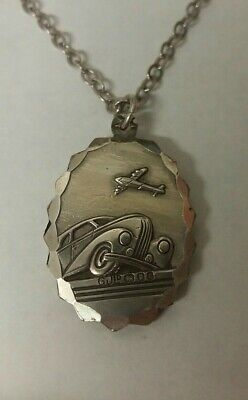 Georg Jensen Silver St Christopher Necklace - Double Sided • 95£