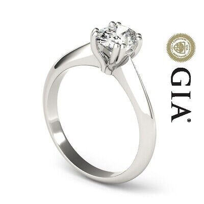 AU5558.06 • Buy Gia Certified Diamond Engagement Ring Vvs1 F Oval 1 Ct Solitaire 14k White Gold
