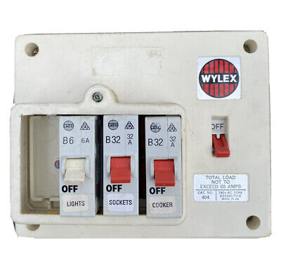 £18.85 • Buy Wylex 404 4 Way 60A Insulated Plastic Fuse Board (D460)