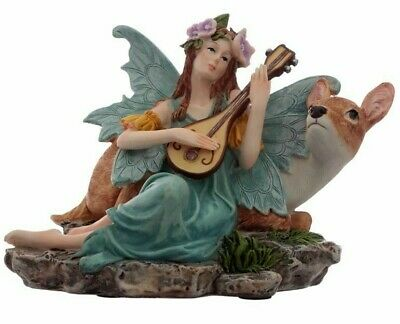 £9.90 • Buy Guardian Angel Statue With Heart - 20cm Tall Memorial Figurine Gift Boxed