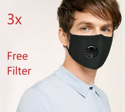 AU12.50 • Buy 3 Washable Face Mask Reusable Triple Layer Cotton Unisex Teen Adults Mouth Cover