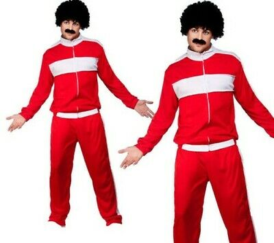 AU50.08 • Buy 80s Retro Trackie Costume Adults Shell Suit Scouser Fancy Dress Mens Outfit